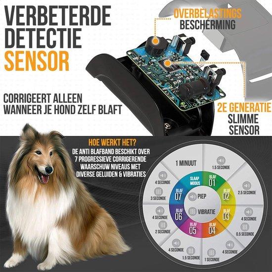 Strex Anti Blafband voor Honden - 3-60KG - Diervriendelijk - Zonder Schok - Vibratie en Audio - Anti Blaf Band