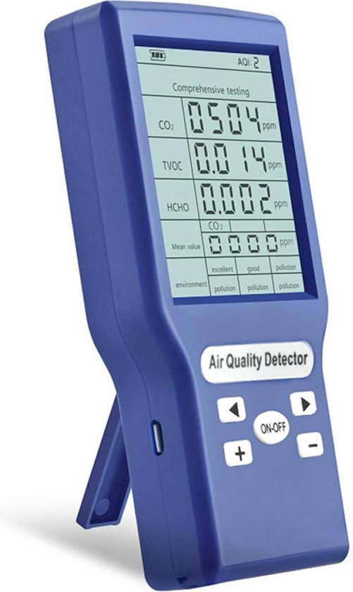 Uniqly Co2 Meter - Formaldehyde - Lucht Kwaliteit