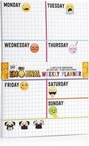 Weekplanner - Get Emojinal / Emoji - 21 cm x 12 cm