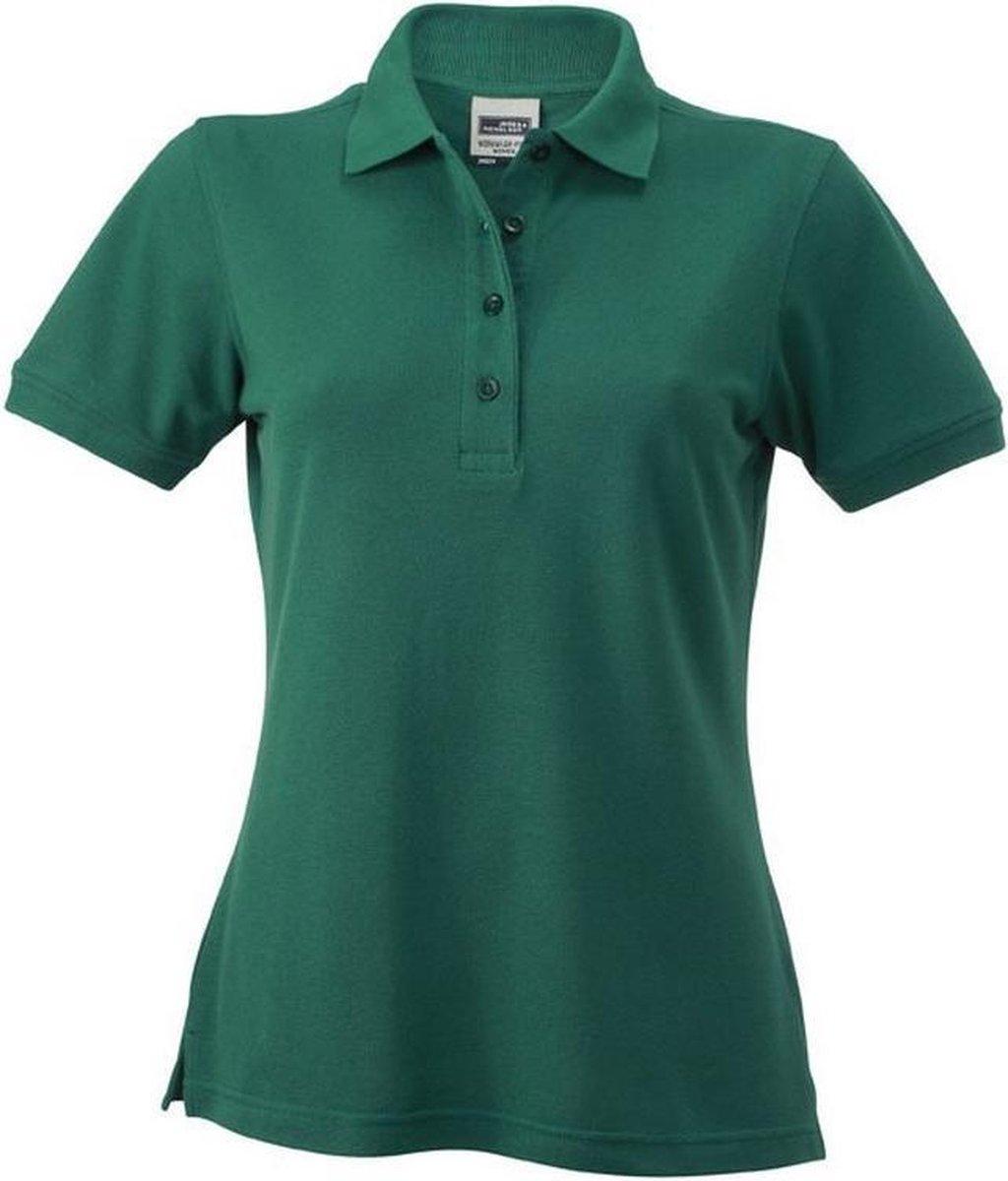 James and Nicholson Dames/dames Werkkleding Poloshirt (Donkergroen)