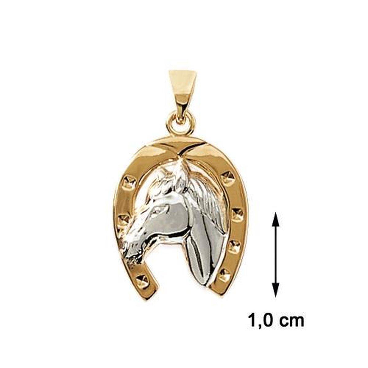 Blinx Jewels Vergulden Hanger Hoefijzer Paard