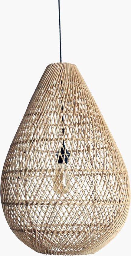 Raw Materials Maze Hanglampen eetkamer - ⌀ 45 cm - Druppel - Natural - Rotan