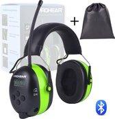 Prohear Gehoorbescherming met Radio - Bluetooth Luxe Oorbeschermers -  Oplaadbaar- Oorkappen - geluidsisolatie- Audio Ingang Incl. Aux Kabel + Tas