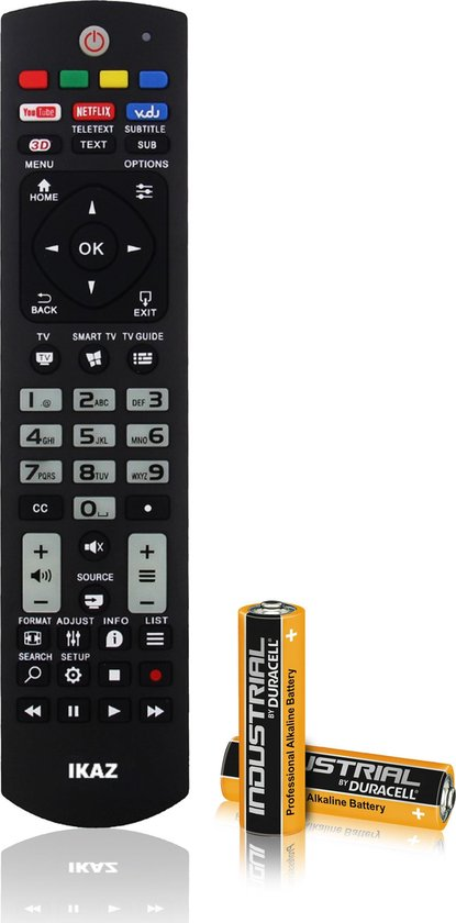 IKAZ®Universele afstandsbediening Philips TV Inclusief batterijen|Televisie||Smart TV|Televisie|Remote control