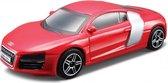 Modelauto Audi R8 2009 rood 10 x 4 x 3 cm - Schaal 1:43 - Speelgoedauto - Miniatuurauto