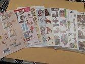 Hobby pakket 3d knipvellen 40 stuks trouwen, condeleance, communie abraham/sara  voor kaarten /scrapbooking  Afbeeldingen wijken af