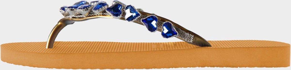 Uzurii Heart Blue dames slippers, Ocher, maat: 39/40