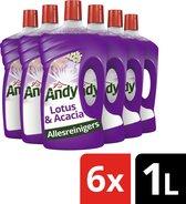 Andy Lotus & Acacia Allesreiniger  - 6 x 1L - Voordeelverpakking
