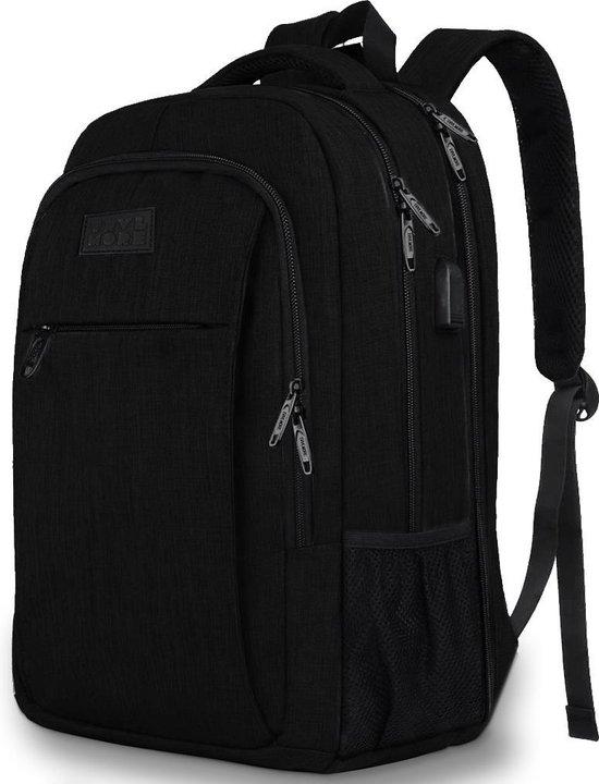Afbeelding van TravelMore Daily Carry XL Backpack - 17,3 inch Laptop Rugzak - Dames/Heren - 36L - Waterafstotend - Zwart