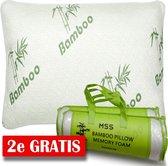 MSS - 2x Bamboe kussen | Origineel Bamboo Kussen 2x | Cool Comfort | Memory Foam| Zacht, Koel & Drukverlagend