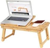 Bamboe Inklapbare Laptoptafel - Bedtafel - Picnictafel