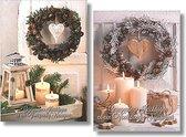 20 Luxe Kerstkaarten in doos - Gezegend D - 2 x 10 kaarten