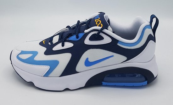 Air max 200 white/ university blue maat 42,5
