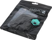 Mondkapje zwart wasbaar elastisch verpakt per set van 5 mondkapjes