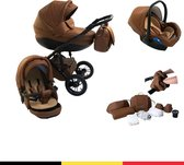 P'tit Chou Trento - 3-in-1 Kinderwagenset - Met Buggy, Autostoel En Accessoires - Cognac