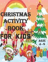 Christmas Activity Book for Kids Ages 4-8