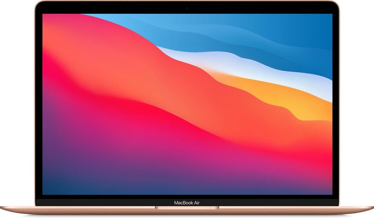 Apple MacBook Air (November, 2020) MGNE3N/A - 13.3 inch - Apple M1 - 512 GB - Goud