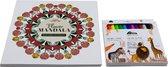 Flower Mandala kleurboek voor volwassenen set A040153 - inclusief markers