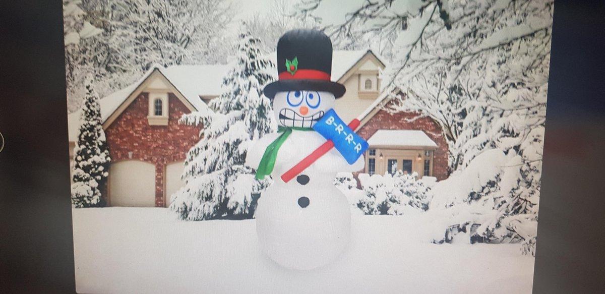 Lichtgevende, opblaasbare sneeuwpop (180 cm.) kopen