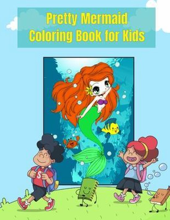 Pretty Mermaid Coloring Book for Kids