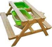 MaxxGarden kinder picknicktafel - Zandbak met waterbak en picknicktafel - 90 x 79 x 50cm