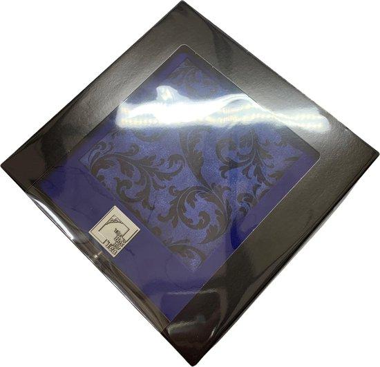 The Box For Tea Royal Barok Theedoos Met Thee Cadeau - 9 vaks - Blauw