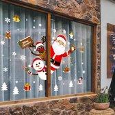 Kerst raam decoratie - Statisch - herbruikbaar - Kerst sticker - kerstman - kerstkado - Christmas - Compleet set - kerst raamsticker - kerst decor