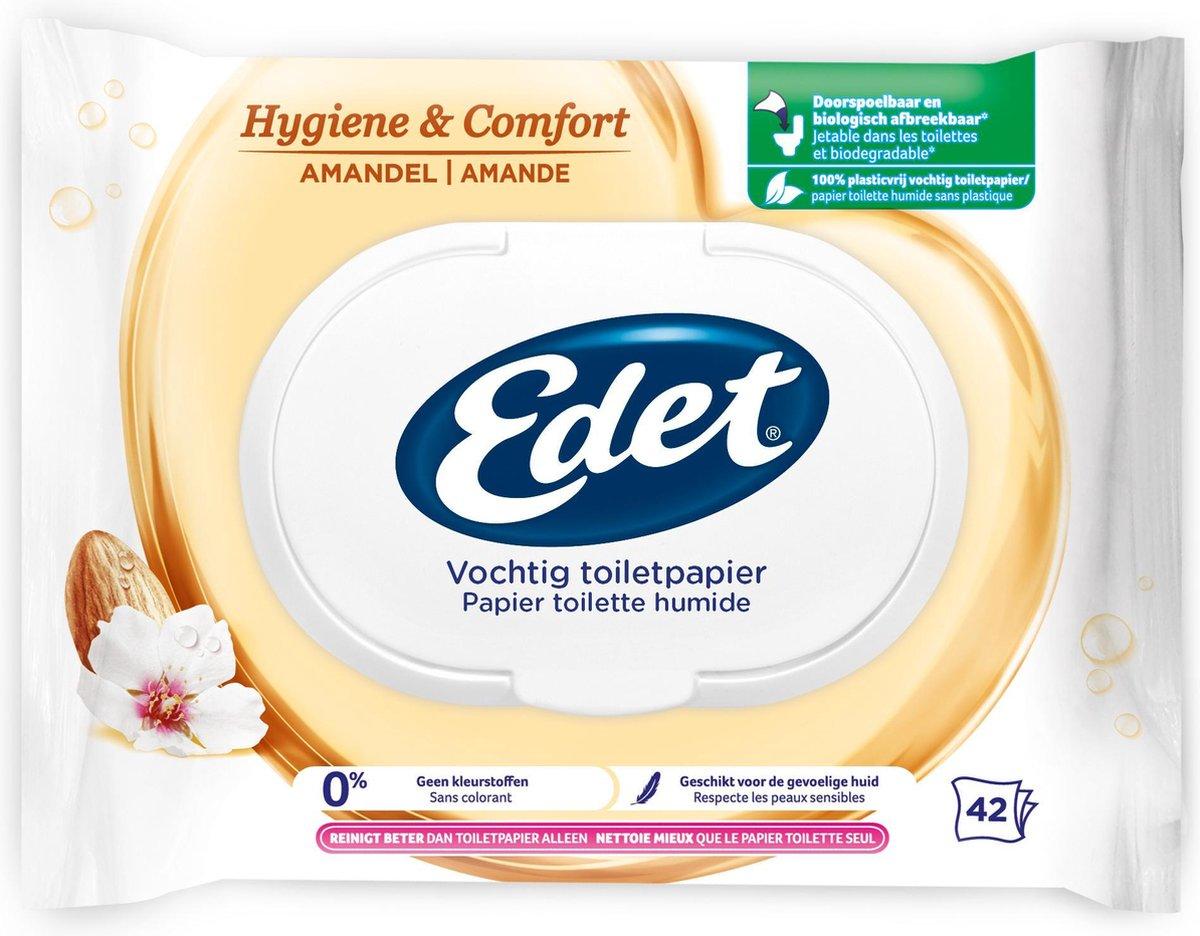Edet Vochtig Toiletpapier - 294 stuks - amandel