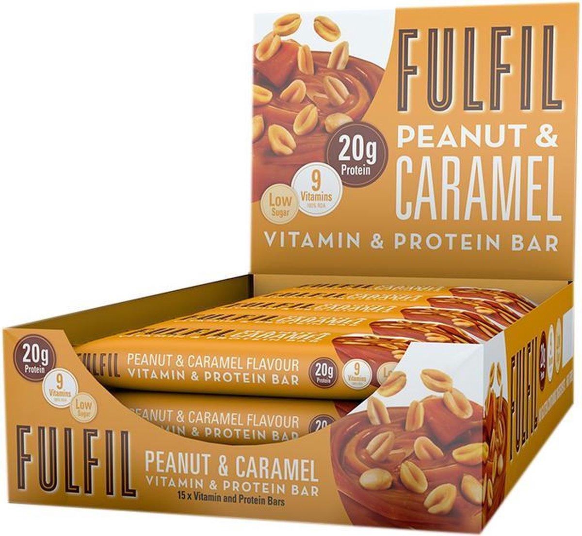 Fulfil Nutrition Vitamin & Protein Bars - Proteïne Repen -  Pinda & Caramel - 15 eiwitrepen