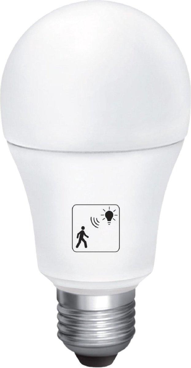 10W LED smart bulb met ingebouwde PIR beweging sensor - 6000K helder wit