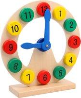 leren klokkijken - houten oefenklok - educatief speelgoed - montessori - houten speelgoed klok - Blijderij