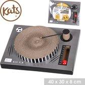 Kats - DJ Krabpaal voor Katten  - Vinyl Platenspeler - Disc Shape - Retro