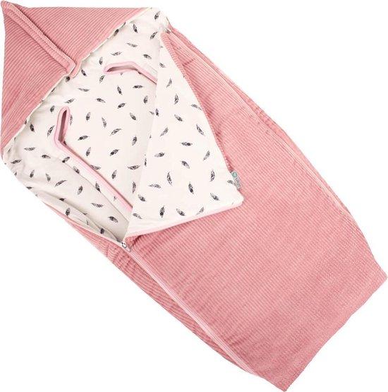 Product: Ukje Voetenzak buggy en kinderwagen - Universeel - Zacht katoen - roze, van het merk Ukje