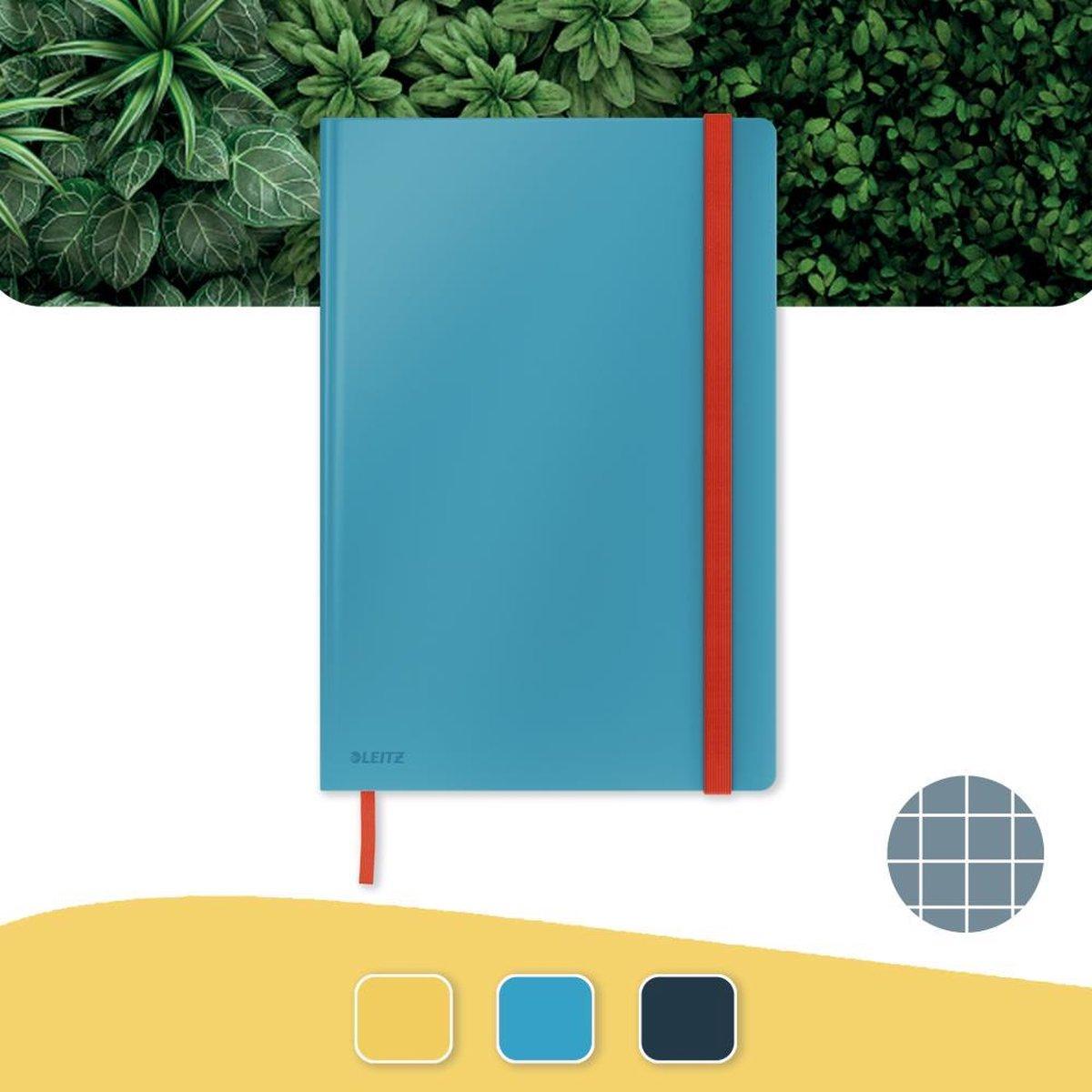 Leitz Cosy Notitieboek B5 Soft Touch Geruit - Notitieboek Hard Cover - Voor Kantoor En Thuiswerken - Sereen Blauw - Ideaal Voor Thuiskantoor