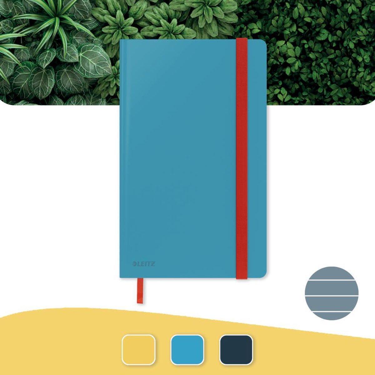 Leitz Cosy Notitieboek A5 Soft Touch Gelijnd - Notitieboek Hard Cover - Voor Kantoor En Thuiswerken - Sereen Blauw - Ideaal Voor Thuiskantoor