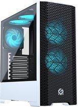MetallicGear Neo Air ATX Mid-tower High Airflow Mesh front design, Black/White