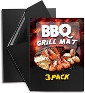 3 Stuks niet-klevende en herbruikbare oven-, barbecue- en grillmat - Reusable - Nonstick - Set van 3 stuks
