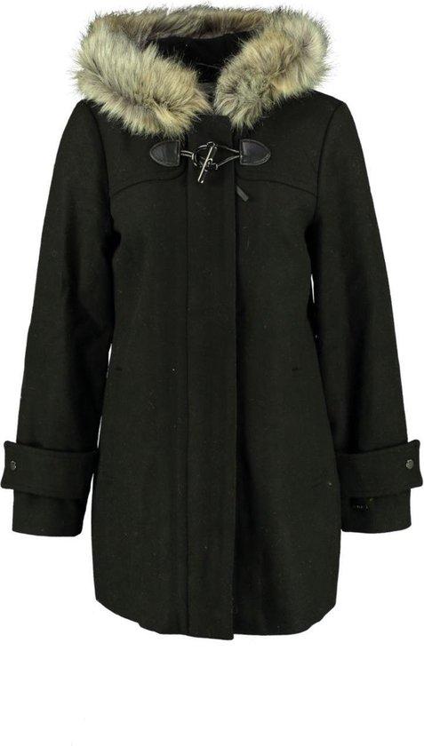 | Garcia zwarte deels wollen parka winterjas