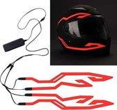 Led helm Sfeerverlichting Scooterhelm Led Verlichting Motorhelm Verlichting