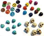 Doodshoofd en Vredestekens Kralen Set - Totaal 36 Stuks - Diverse kleuren
