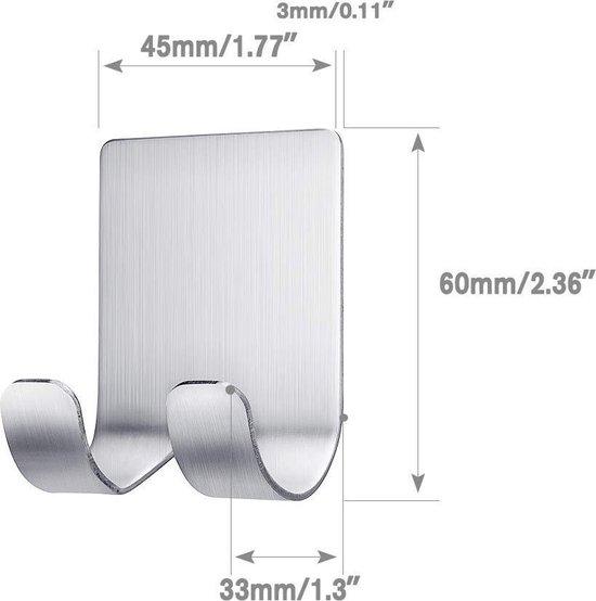 Scheermeshouder - Scheermes - Safety razor  - Douche - Rvs -  Wandmontage - Scheerapparaat - Mettalic   - Waterproef - Plakstrip  wandmontage - 6 x 4,5 cm