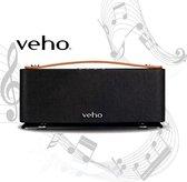 Veho - Speaker - Bluetooth - Draadloos - Audio Kabel - Batterijen - Micro USB Kabel - Spotify - 18.6x7.6x5.4 - Zwart