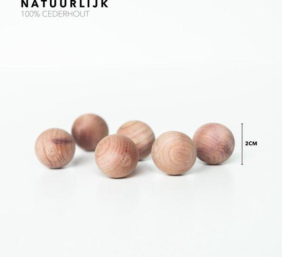 CATO anti-motten set - 33 stuks - premium ceder houten ringen en ballen - garderobe ringen cederhout - garderobe set - cadeauset - mottenballen - motten bestrijden - aromatisch - giftset -tegengaan van motten - anti motten gaatjes - mottenballen kast