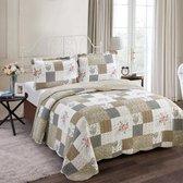 Lavandoux - Bedsprei - Quilt - Vintage Rose - 140x200 - 1-persoons - Beige