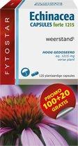 Fytostar Echinacea Forte 1215 mg – Weerstand – Voedingssupplement met Echinacea – 120 plantaardige capsules