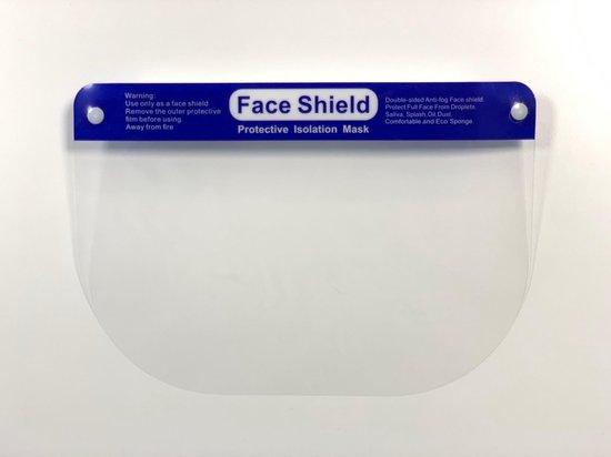 Afbeelding van 5x Gezichtscherm - Gelaatscherm - Spatscherm - Gezichtsmasker - FACE SHIELD - Beschermkap voor gezicht - bacterie - virus - veiligheidsmasker - mondkap - gezichtsschild - transparan