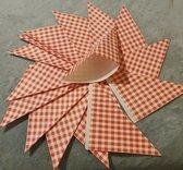 Frietzakken - Papier - Set 100 stuks - Rood-Wit geruit - 23 x 18 x 17 cm