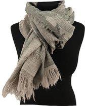 Grijsgroene wollen shawl