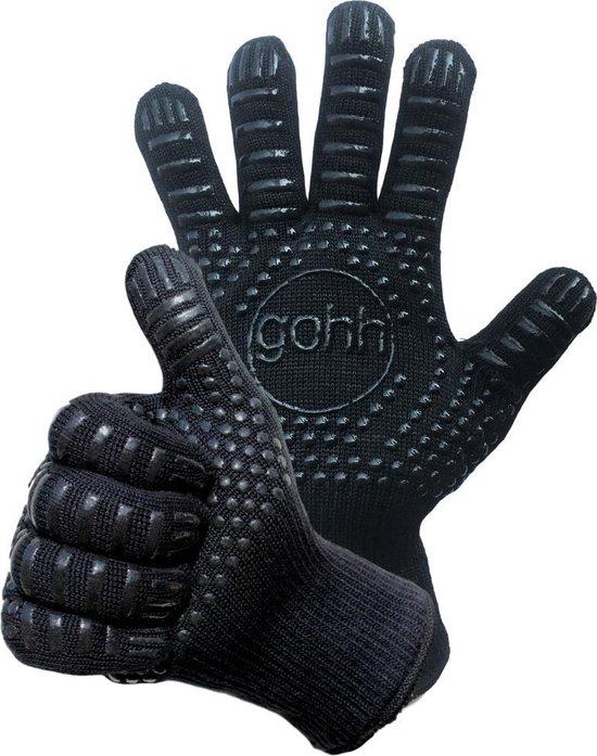 Gohh® 2 BBQ handschoenen (Aramide en Kevlar) beschermt tot 500 °C - EN407 gecertificeerd - Extra Lang