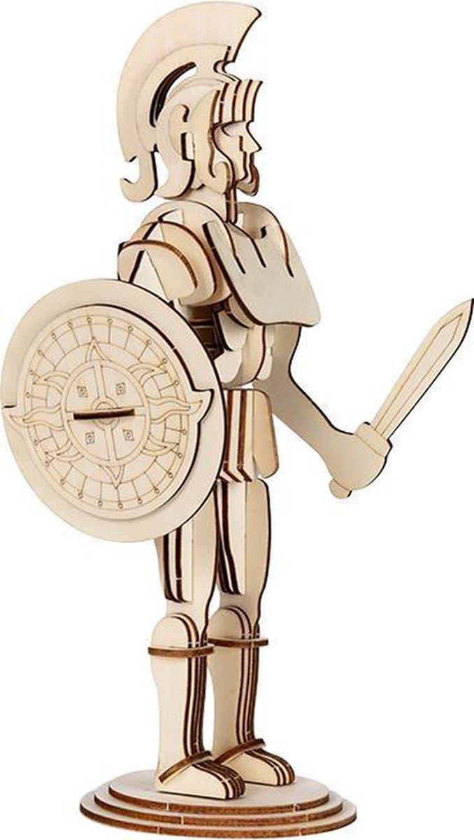 Mookids - Modelbouw Hout - 3D Puzzel - Romeinse Soldaat - 30 cm